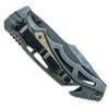 Smith & Wesson Tan Border Guard Folder Knife, Black Stonewash Blade