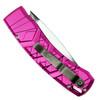 Piranha Pink X Auto Knife, 154CM Mirror Combo Blade Clip View