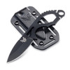 Benchmade 101BK Follow-Up Fixed Blade Neck Knife, CPM-S30V Black Blade