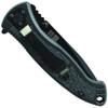 Smith & Wesson Large SWAT Spring Assist Knife, Black Handle, Black Plain Blade