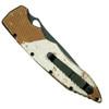 Piranha Desert Camo Mini Predator Auto Knife, CPM-S30V Black Blade  Clip View