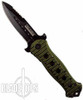 Jolly Green Rogers Spring Assist Knife, Black Tactical Blade