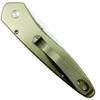 Pro-Tech Custom Bronze Newport Titanium Auto Knife, Mosaic Abalone, CPM-S35VN Satin Blade REAR VIEW