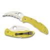 Spyderco C106SYL2 Yellow Tasman Salt 2 Hawkbill Folder Knife, H-1 Satin SpyderEdge Blade