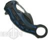 MTech Blue Karambit Assist Knife, Black Combo Blade