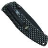 Schrade 207 Folder Knife, Black Plain Drop Point Blade
