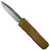 Guardian Tactical Tan RECON-035 OTF Auto Knife, Stonewash Blade
