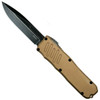 Guardian Tactical Tan RECON-035 OTF Auto Knife, Dark Stonewash Blade