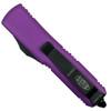 Microtech Violet UTX-85 Dagger OTF Auto Knife, Black Blade