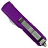 Microtech Violet UTX-85 Tanto OTF Auto Knife, Satin Blade REAR VIEW
