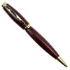 Loki Tool Hand Turned Graduate Twist Pen with 24kt Gold Accents and Purpleheart body