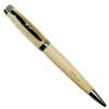 Loki Tool Maple Graduate Gun Metal Twist Pen Front View