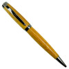 Loki Tool Yellowheart Graduate Gun Metal Twist Pen Front View