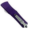 Microtech Purple Troodon Dagger OTF Auto Knife, Satin Blade REAR VIEW