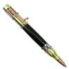 Loki Tool Ebony Steampunk Pen, Antique Brass Open View