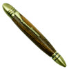 Loki Tool Bocote Civil War Twist Pen, Antique Brass Closed