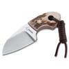 Boker Plus Gnome Stag Fixed Blade Knife, Satin Blade FULL VIEW