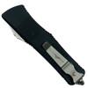 Microtech Troodon Hellhound OTF Auto Knife, Stonewash Blade Back View