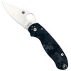 Spyderco Custom Frost Camo Para 3 Folder Knife, Satin Blade Front Open View