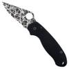 Spyderco Custom Para 3 Folder Knife, Web Blade Front Open View