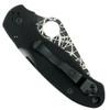 Spyderco Custom Para 3 Folder Knife, Web Blade Back Closed View