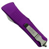 Microtech Violet Troodon OTF Auto Knife, Stonewash Blade Closed View