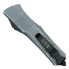 Microtech Distressed Grey Combat Troodon Dagger OTF Auto Knife, Black Blade Back