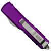 Microtech Violet UTX-85 Dagger OTF Auto Knife, Stonewash Combo Blade Back