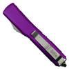 Microtech Violet Ultratech Dagger OTF Auto Knife, Stonewash Blade Back