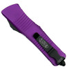 Microtech Violet Troodon OTF Auto Knife, Black Combo Blade Back