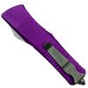 Microtech Violet Troodon OTF Auto Knife, Stonewash Combo Blade Back