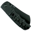 Boker Kalashnikov Cleaver Auto Knife, Black Blade Back View