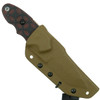 TOPS Red/Black C.A.T. 200S-05 Fixed Blade Knife, Coyote Tan Blade Sheath