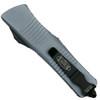 Microtech Grey Troodon Dagger OTF Auto Knife, Black Blade Back