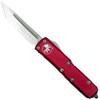 Microtech Red UTX-85 Tanto OTF Auto Knife, Satin Blade