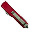 Microtech Red UTX-85 Tanto OTF Auto Knife, Satin Blade Back