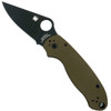 Spyderco Earth Brown Para 3 Folder Knife, CPM-S35VN Black Blade