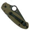 Spyderco Earth Brown Para 3 Folder Knife, CPM-S35VN Black Blade Back