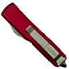 Microtech Red UTX-85 OTF Auto Knife, Satin Combo Blade Back