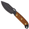 TOPS Shadow Rider Fixed Blade Knife, Black Blade FRONT VIEW