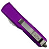Microtech Violet UTX-85 OTF Auto Knife, Stonewash Blade Back