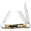 Case Medium Stockman 6.5 BoneStag Folder Knife, Satin Blades FRONT VIEW