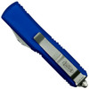 Microtech Blue UTX-85 Dagger OTF Auto Knife, Satin Serrated Blade Back