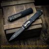 Microtech Dirac Delta Dagger OTF Auto Knife, Black Blade [Proof Run] (Field Shot)