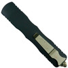 Microtech Dirac Delta Dagger OTF Auto Knife, Black Blade [Proof Run] Back