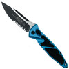 Microtech Turquoise Socom Elite Auto Knife, Black Combo Blade