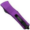 Microtech Violet Troodon Dagger OTF Auto Knife, Black Blade Back