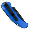 Pro-Tech Blue Runt J4 Tanto Auto Knife, Black Blade Back