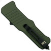 HK OD Green Mini Incursion OTF Auto Knife, Tumbled Blade [Exclusive] Back View