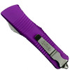 Microtech Violet Troodon OTF Auto Knife, Satin Combo Blade Back View